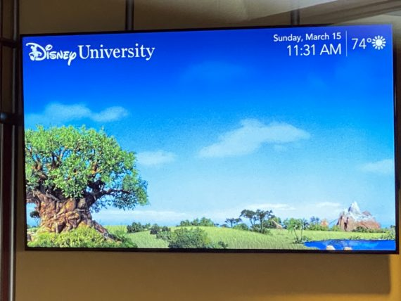 Disney University info board
