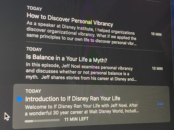Disney podcast episode summaries