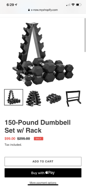 mail order dumb bell set