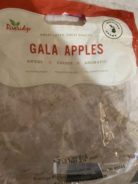 Gala Apples bag empty