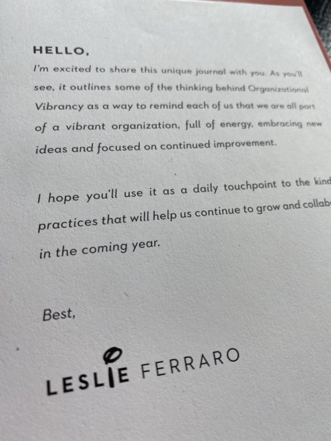 Disney executive Leslie Ferraro message