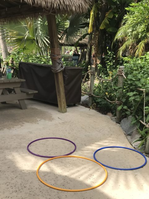 Mickey Mouse shaped hoola hoop arrangement