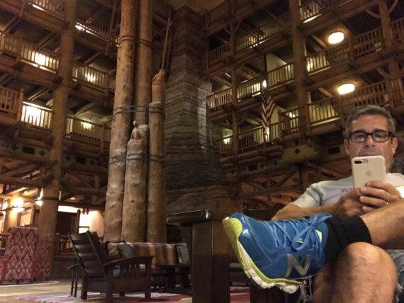 Jeff Noel at Disney's wilderness Lodge resort lobby