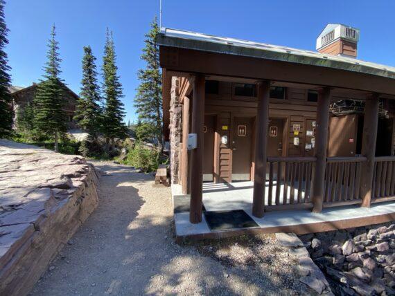 Mountain chalet bathrooms