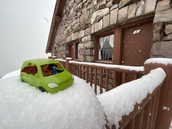 Pixar Onward toy car in snow