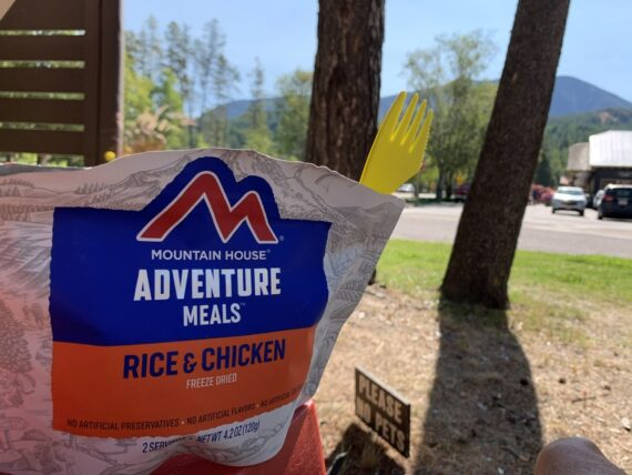 freeze dried meal package