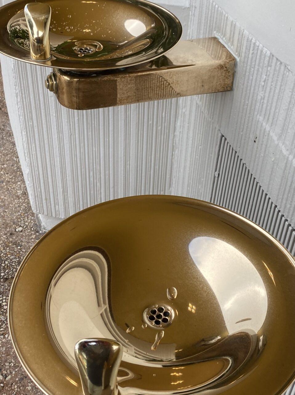 Shiney Disney drinking water fountain