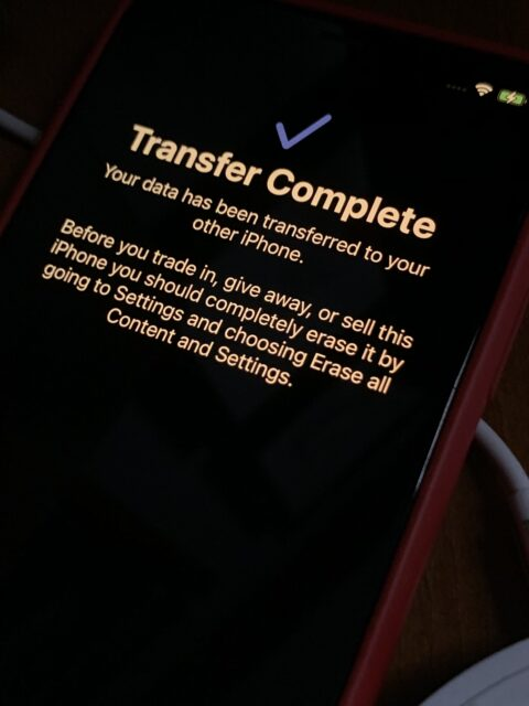 IPhone data transfer