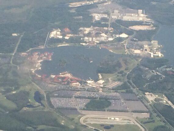 Aerial view of Magic Kingdom area