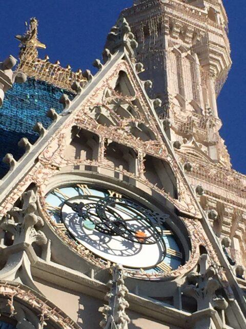 Cinderella Castle clock close up