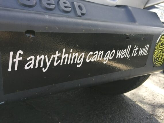 bumper sticker with clever quote