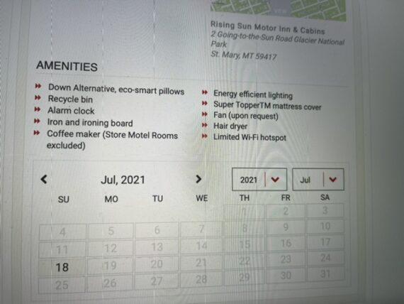 hotel reservation availability calendar
