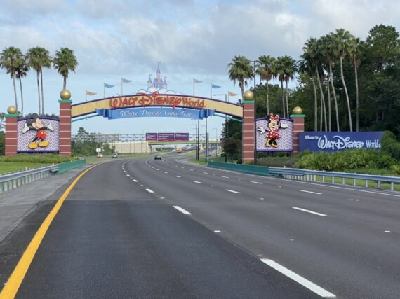 Walt Disney World entrance sign