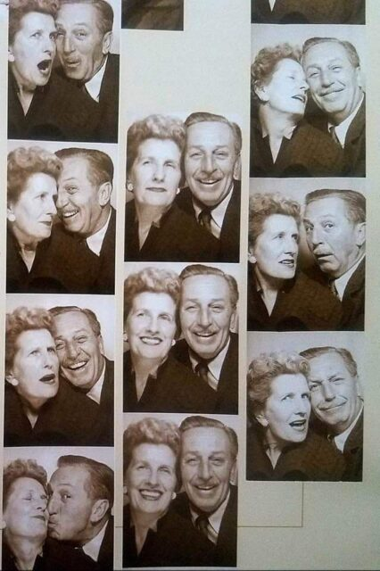 Walt and Lillian Disney in a photo booth