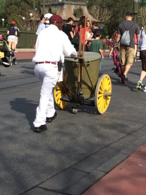 Disney custodial honey bucket on the street