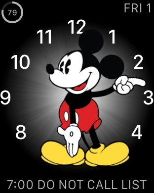Mickey Mouse Apple Watch display