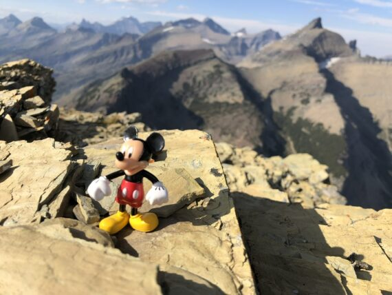 Mickey Mouse in the mountains