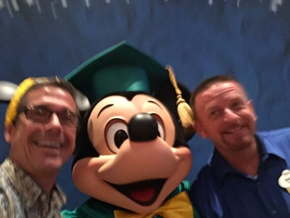 Two Disney Institute Speakers and Mickey Mouse