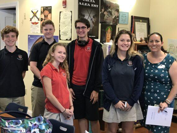Five High Schoolers and teacher