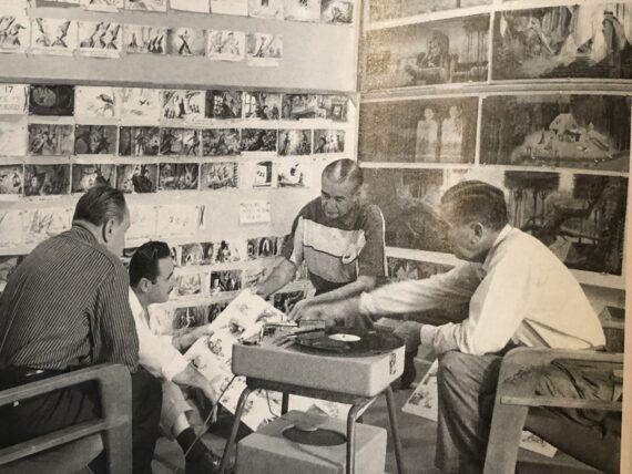 Walt Disney and associates storyboarding