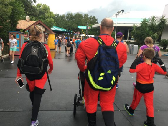 Guests dressed as The Incredibles