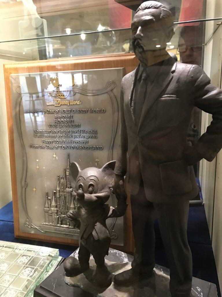 Disney University lobby trophy case