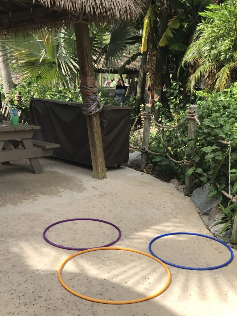 Mickey Mose head from three hula hoops