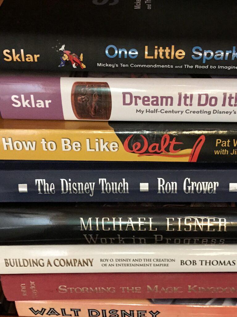 stack of Disney books