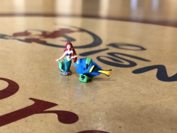 Disney toy characters on DU floor