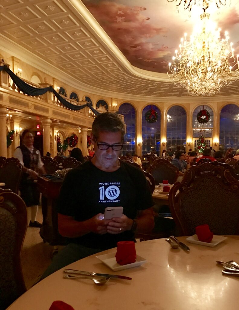 Disney employee culture author Jeff Noel at Be Our Guest Restaurant