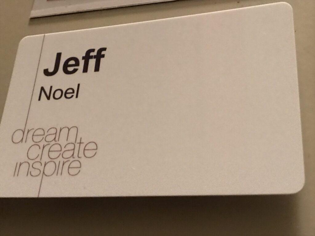 Disney Legacy Award name tag