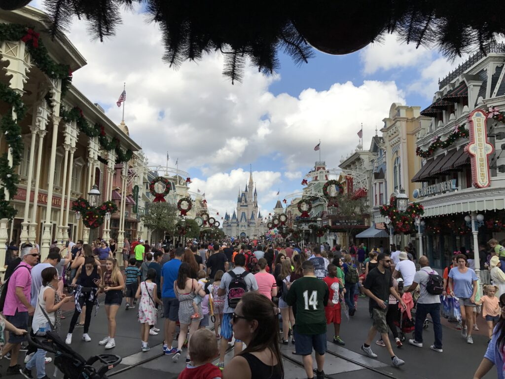 Crowded Main Street, USA