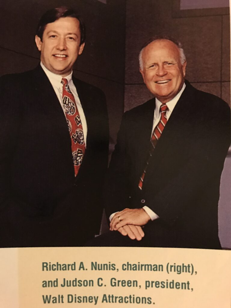 photo of two former Disney Executives from 1990's