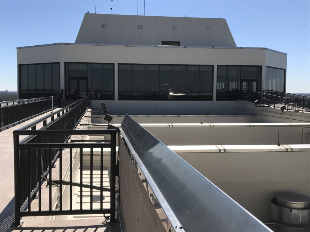 rooftop view of a hotel