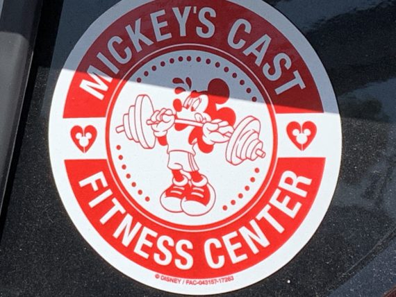 Mickey's Cast Fitness Center sticker